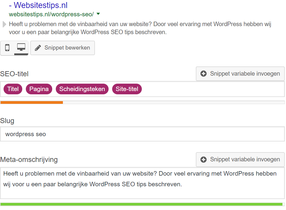 wordpress seo omschrijving